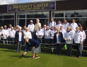 President Brian Morris's Mum, Ellen, opens the season by delivering the first bowl.