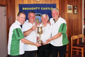 The winning team (L to R) J.McKiddie J. Simpson J.Aimer V.Conway The runners up were Norport 1.